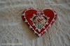 Piros Mézeskalács szív tulipános
