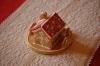 Mézeskalács házikó piros, téli