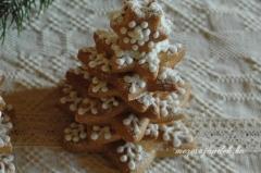 Mézeskalács 3D fenyőfa