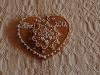 Mézeskalács szív virággal